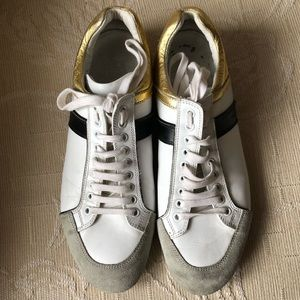 Dior Homme x Hedi Slimane 07 Gold Bowling Sneakers
